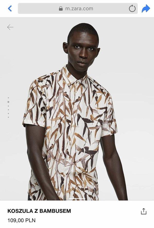 Zara, koszula z bambusem, skandal