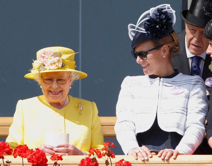 Zara Tindall, królowa Elżbieta II
