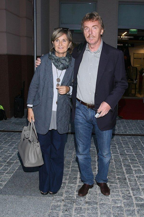 Zbigniew Boniek z żoną