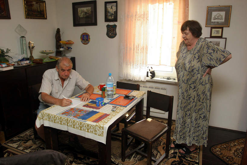 Zbigniew Religa z żoną