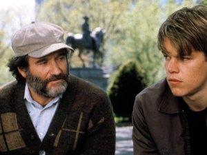 zdjęcie z filmu Buntownik z wyboru. Matt Damon, Ben Affleck, Robin Williams