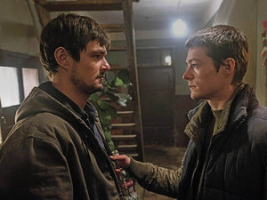 zdjęcie z filmu Cicha noc. Dawid Ogrodnik, Tomasz Ziętek. Forum Film Poland