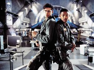 zdjęcie z filmu Dzień niepodległości. Jeff Goldblum, Will Smith