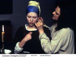 zdjęcie z filmu Dziewczyna z perłą. Scarlett Johansson, Colin Firth