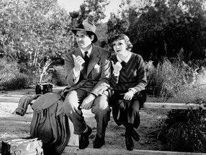 zdjęcie z filmu Ich noce. Clark Gable, Claudette Colbert
