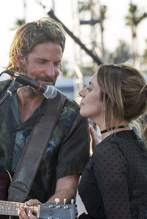 "(L-R) BRADLEY COOPER as Jackson Maine and LADY GAGA as Ally in the drama ""A STAR IS BORN,"" from Warner Bros. Pictures, in association with Live Nation Productions and Metro-Goldwyn-Mayer Pictures, a Warner Bros. Pictures release."