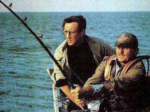 zdjęcie z filmu Szczęki. Steven Spielberg