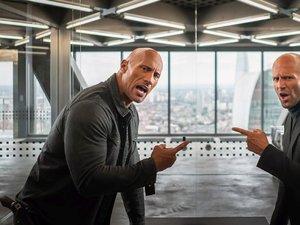zdjęcie z filmu Szybcy i wściekli: Hobbs i Shaw. Dwayne Johnson, Jason Statham
