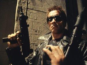 zdjęcie z filmu Terminator. Arnold Schwarzenegger