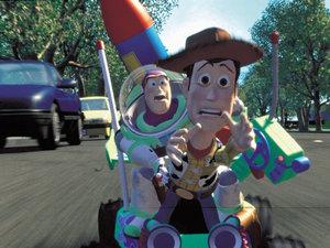 zdjęcie z filmu Toy Story. Chudy Woody, Buzz Astral