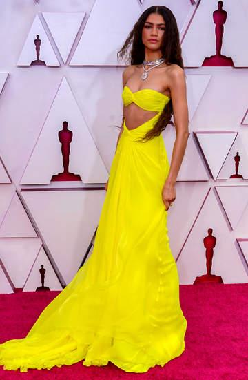 Zendaya żółta sukienka na Oscarach 2021
