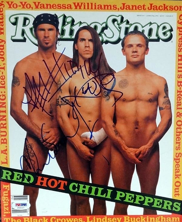 Zespół Red Hot Chilli Peppers na okładce Rolling Stone