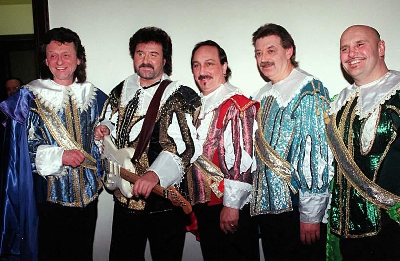Zespół Trubadurzy w składzie: Krzysztof Krawczyk, Sławomir Kowalewski, Piotr Kuźniak, Marian Lichtman, 01.02.1998