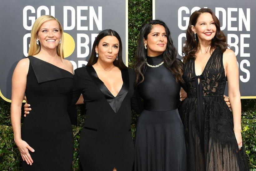 Złote Globy 2018, Reese Witherspoon, Eva Longoria, Salma Hayek