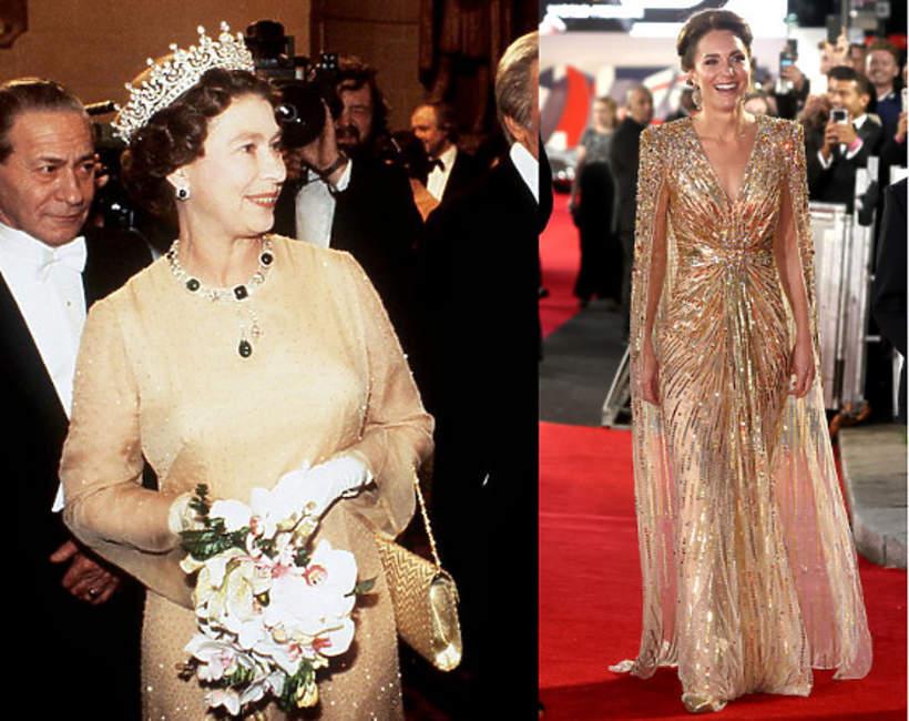 Złote suknie rodziny królewskiej