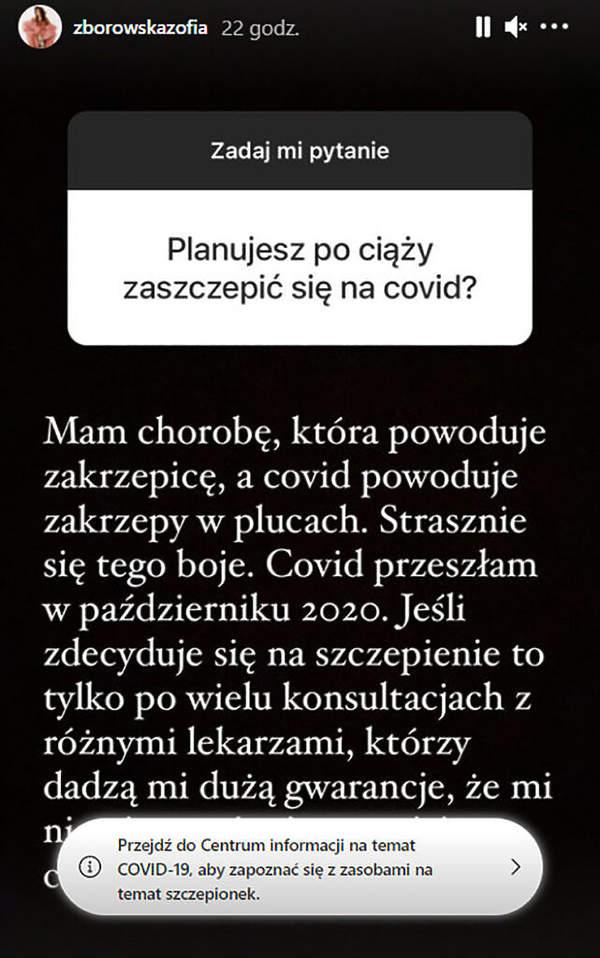 Zofia Zborowska, Instagram