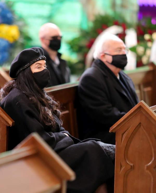 zona ewa na pogrzebie krawczyka