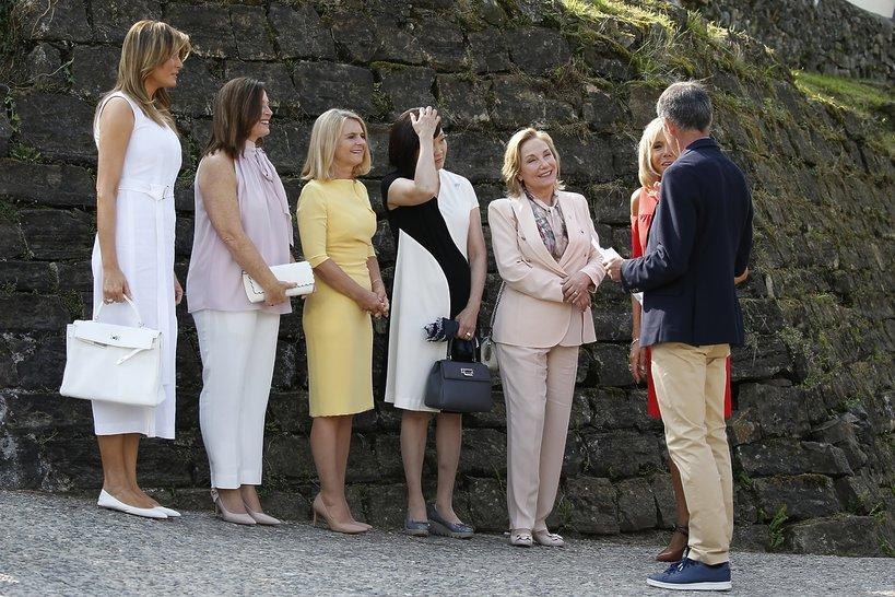 Żony polityków na G7: Melania Trump, Małgorzata Tusk, Brigitte Macron