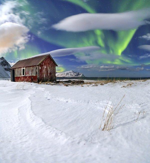 Zorze polarne w Norwegii