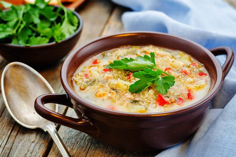 Zupa z komosą ryżową - przepis