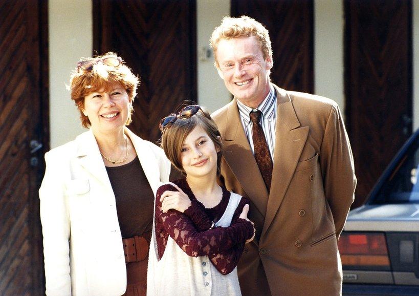 Zuzanna Łapicka i Daniel Olbrychski z córką Weroniką