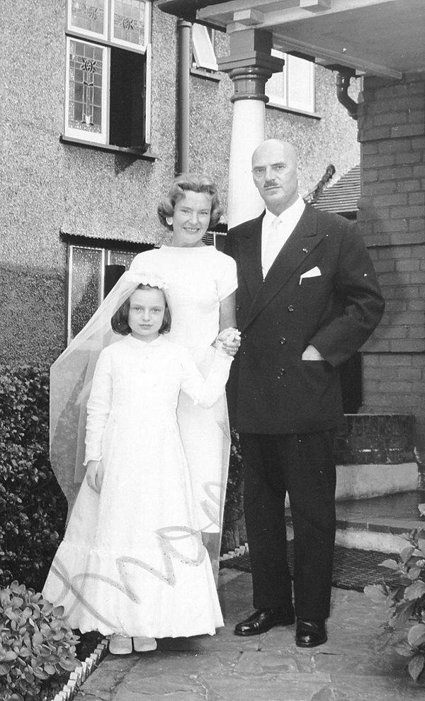 Anna Maria Anders z rodzicami w 1958 roku