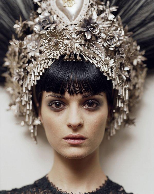 Natalia. Jean-Paul Gaultier headpiece & dress. Paris, 2007