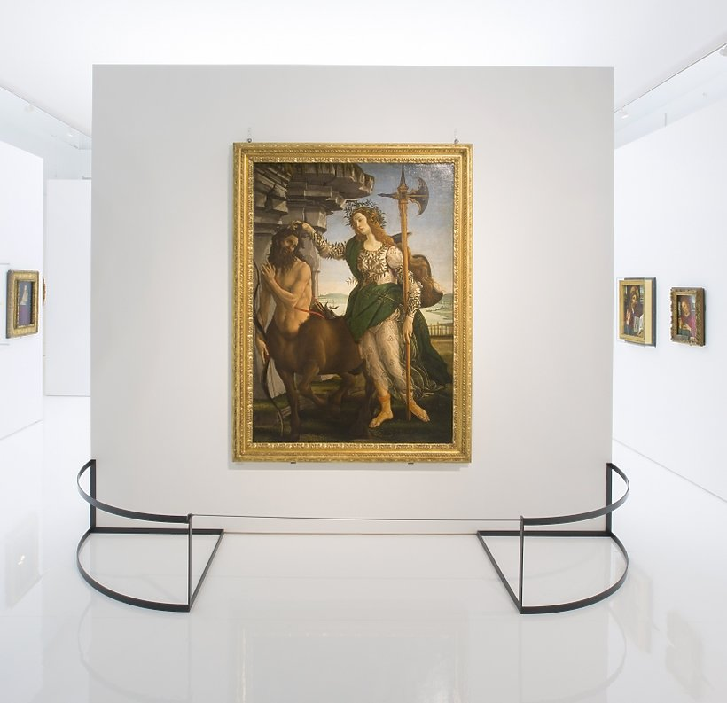 Installation view of Botticelli Reimagined at the V&A, 5 March - 3 July 2016