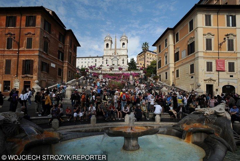 Rzym. Historyczne centrum miasta wpisane 1980 na Liste Swiatowego Dziedzictwa UNESCO, Schody Hiszpańskie