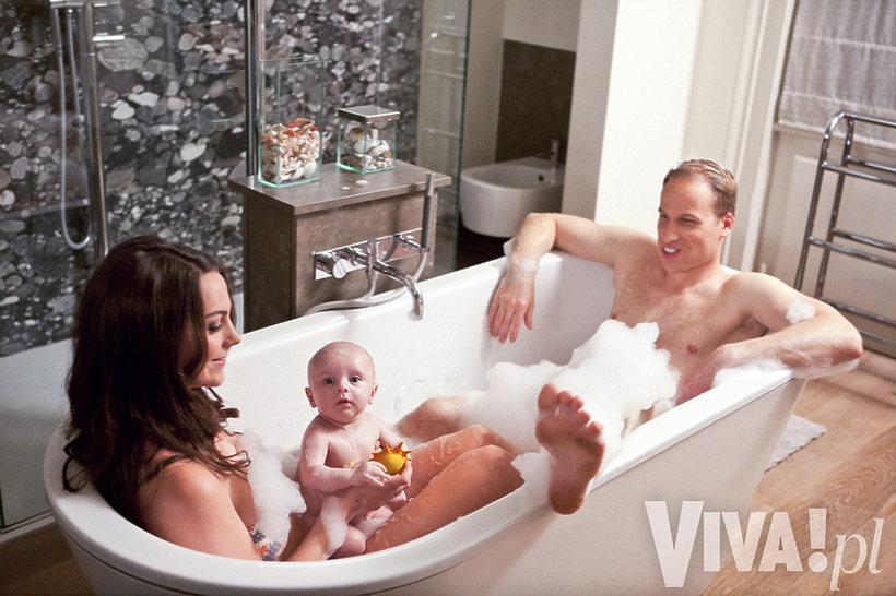 Księżna Kate i książę William w wannie