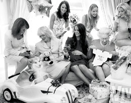 brytyjska rodzina królewska na imprezie baby shower