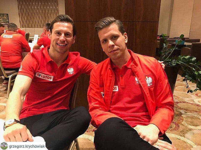 Wojciech Szczęsny, Grzegorz Krychowiak, reprezentacji Polski w piłkę nożną, zgrupowanie przed meczem z Czarnogórą