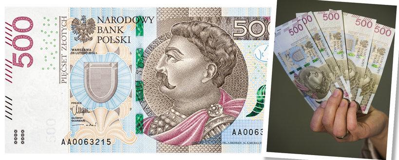500 złotych, nowy banknot 500 złotych