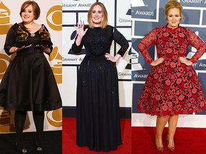 Adele, stylizacje Adele, Adele na Grammy, Grammy 2017