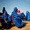 Afgańska mama z dzieckiem na wiecu poparcia dla kandydata na prezydenta