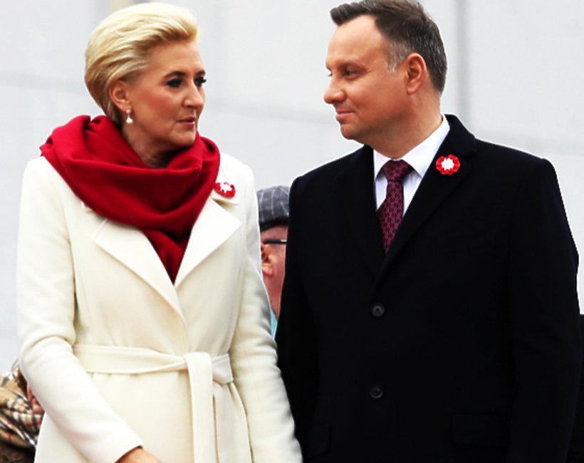 Agata Duda i Andrzej Duda świętują 100 rocznicę odzyskania przez Polskę niepodległości