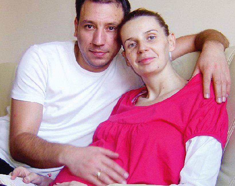 Agata Mróz-Olszewska i Jacek Olszewski, Agata Mróz na zdjęciu z mężem