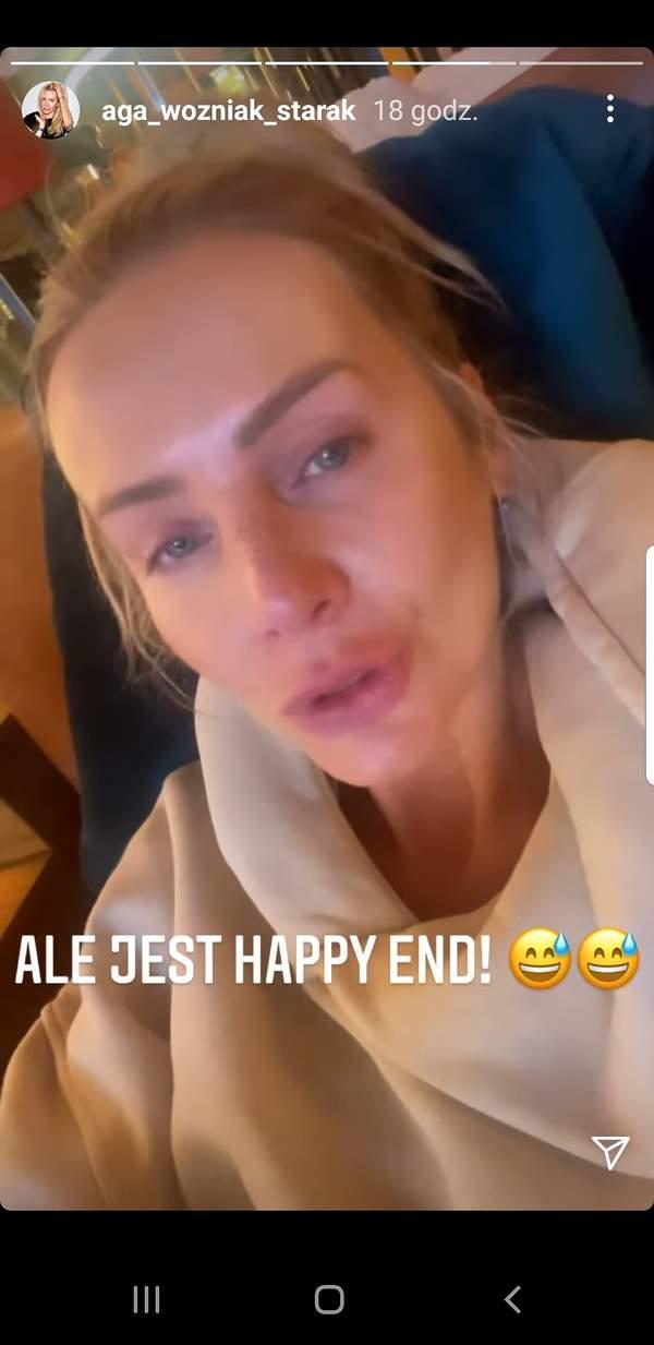 Agnieszka Woźniak-Starak popłakała się na Instagramie