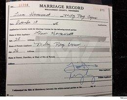 Akt ślubu Miley Cyrus i Liama Hemswortha