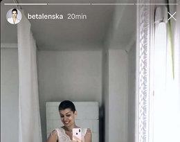 Alżbeta Lenska przymierza suknie ślubne