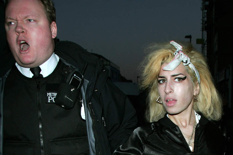 Amy Winehouse, policjant, Londyn, 17.01.2008 rok