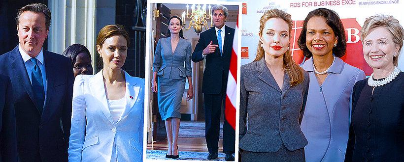 Angelina Jolie z politykami