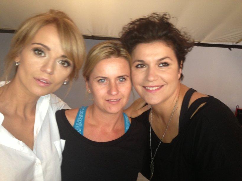 Ania Przybylska, Małgorzata Rudowska i Jolanta Czaja