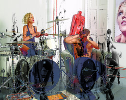 Anja Rubik i Sasha Knezevic, VIVA! grudzień 2008