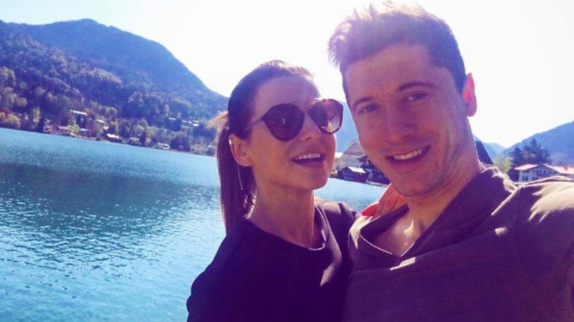 Anna Lewandowska i Robert Lewandowski na wakacjach