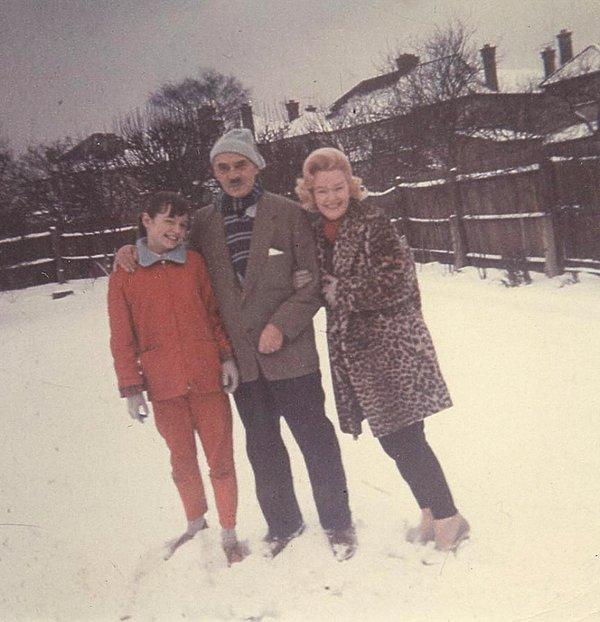 Anna Maria Anders z rodzicami w 1962 roku