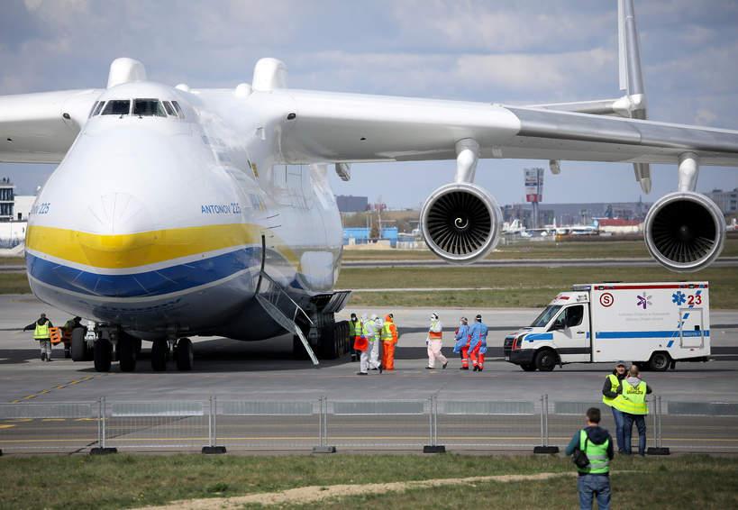 Antonow An-225 Mrija, Warszawa, Okęcie, 14.04.2020