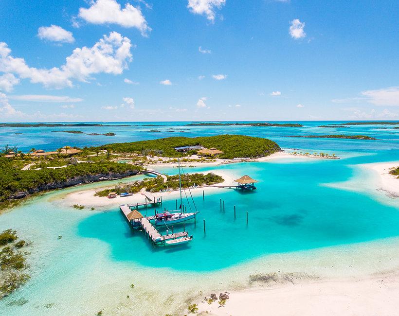Bahamy, wyspa, plaża, woda