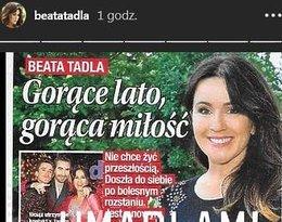 Beata Tadla komentuje romans z Adrianem Furgalskim