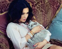 Beata Tadla z kotem